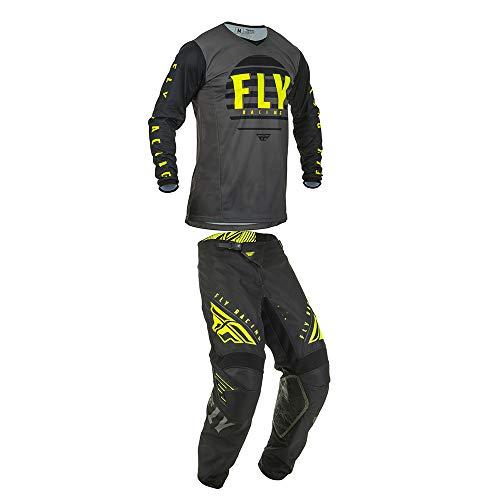 Fly Racing Mens Kinetic K220 Motocross Jersey Pants BlackGreyHi-Vis