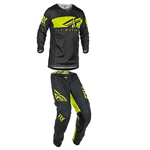 Fly Racing Mens Kinetic Mesh Shield Motocross Jersey Pants GreyHi-Vis