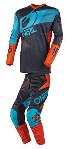 ONeal Youth Element Racewear Motocross Jersey Pants Combo GrayOrangeBlue