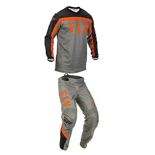 mxgear Fly Racing Mens F-16 Motocross Jersey Pants GreyBlackOrange