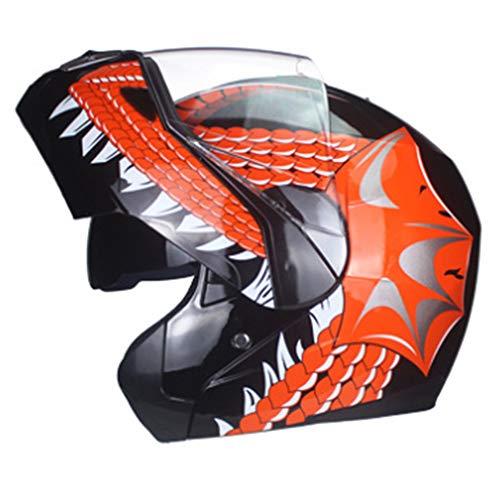 BHQF DOT Certified Motorcycle Full face Helmet Mens and Womens Summer Sun Protection Helmet Jet Double Mirror Modular flip Helmet S M L XLAXL
