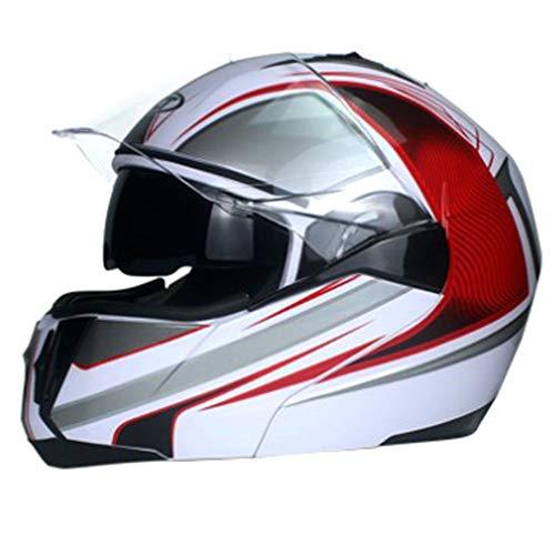 BHQF DOT Certified Motorcycle Full face Helmet Mens and Womens Summer Sun Protection Helmet Jet Double Mirror Modular flip Helmet S M L XLBL
