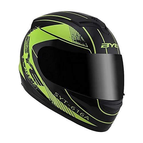 TANMIN Motorcycle Flip Full-Face Jet Collision Modular Helmet DOT Certified Men and Women Road Racing Motorcycle Helmet Jet Brown Mirror Flip Helmet BlackGreen