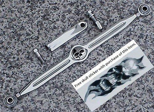 i5 Chrome Skull Gear Shift Linkage for Harley Davidson 1980-2018  Free Skull Decal