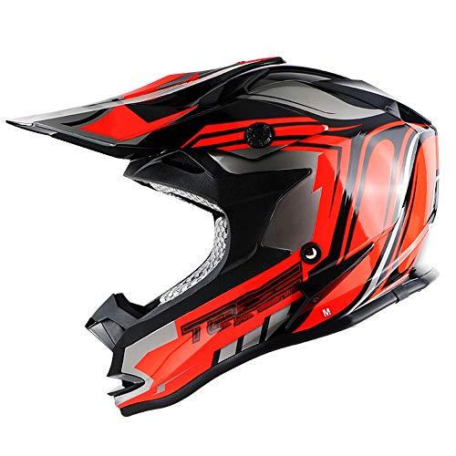 Ssmmxx Youth Motocross Helmet Adult Men and Women Motorcycle Scooter ATV Protective Helmet DOT CertificationXL