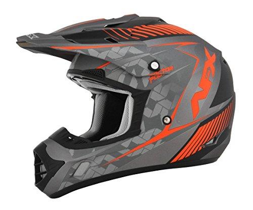 AFX FX-17 Factor Mens Motocross Helmets - GrayOrange - 2X-Large