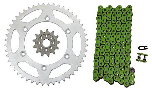 Green 520x112 Drive Chain 1348 Gearing Yamaha MX Bikes 13T 48T Sprockets