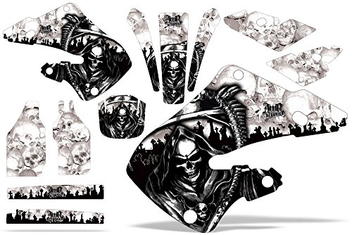 Honda CR125 1998-1999 CR250 1997-1999 MX Dirt Bike Graphic Kit Sticker Decals CR 125 250 REAPER WHITE