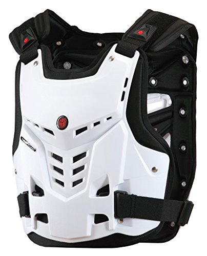 CRAZY AL'S SCOYCO AM05 Body Armor Professional Motorcycle Motocross Racing Protective Body Armour Armor Jacket Guard Motobike Bicycle Cycling Riding Motocross GearL White