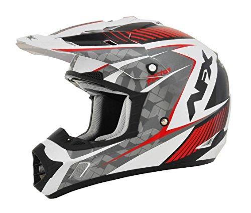 AFX FX-17 Factor Mens Motocross Helmets - WhiteRed - X-Small