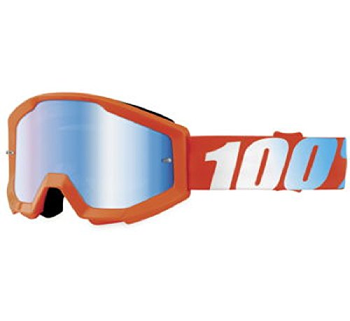 100 Strata Youth Orange Goggle wMirror Blue Lens - 50510-006-02 - Orange Cycle Parts