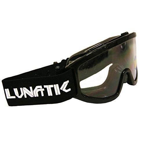 Lunatic L100Y YOUTH Goggles - Black - Dirtbike ATV MX - Single Lens - Adjustable Strap