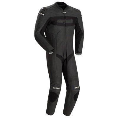 Cortech Latigo RR Mens 1-Piece Leather Street Racing Motorcycle Race Suit - Flat Black  Medium