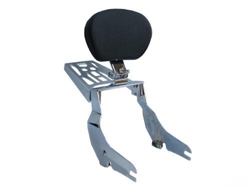Detachable Adjustable Sissybar w Backrest Luggage Rack for 02 Honda VTX1800 C F