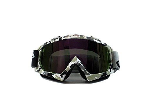 CRG Sports Motocross ATV Dirt Bike Off Road Racing Goggles ZEBRA PRINT T815-7-8 T815-7-8 - Parent Multi-color lens camouflage frame