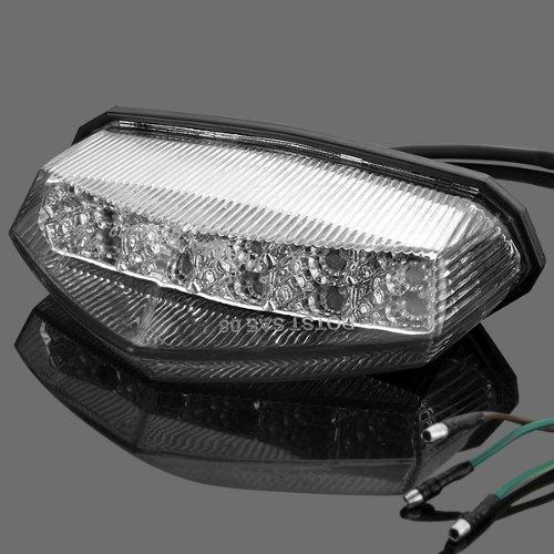 Crystal Clear LED Integrated Running Stop Brake Tail Light for KTM Suzuki Yamaha YFZ WR XT Benshee Warrior Dual Sport Motocross ATV