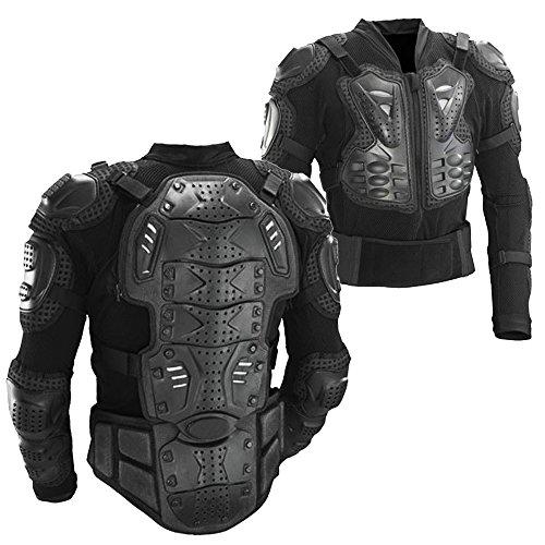 Ediors Motorcycle Full Body Armor Protector Pro Street Motocross ATV Titan Sport Jacket Shirt Large