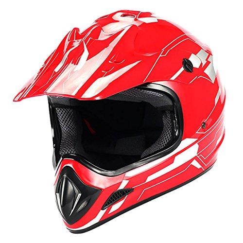 New Motocross ATV Dirt Bike BMX MX Adult Racing Speedy Helmet Red