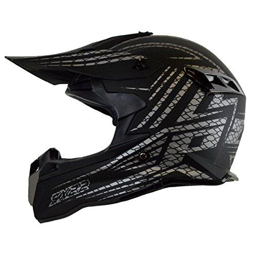 PGR SX22 HYPER Adult MX Motocross ATV Dirt Bike Quads Rackus Enduro Downhill DOT Helmet Boosted Board Evo board Electric Skateboard Electric scooter Medium Matte Black Silver