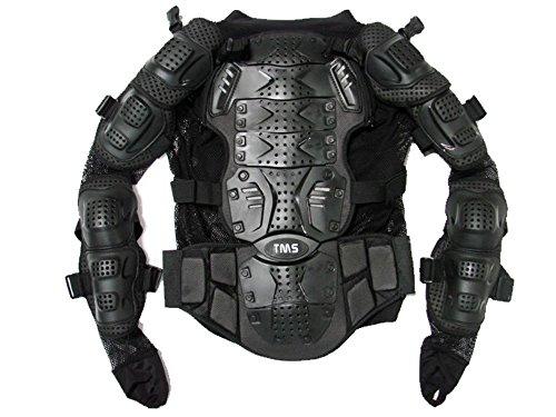 TMS Motorcycle Full Body Armor Protector Pro Street Motocross ATV Jacket Shirt Medium