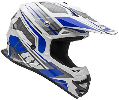 Vega Helmets VRX Advanced Dirt Bike Helmet – Off-Road Full Face Helmet for Motocross ATV MX Enduro Quad Sport 5 Year Warranty Blue Venom Graphic Large