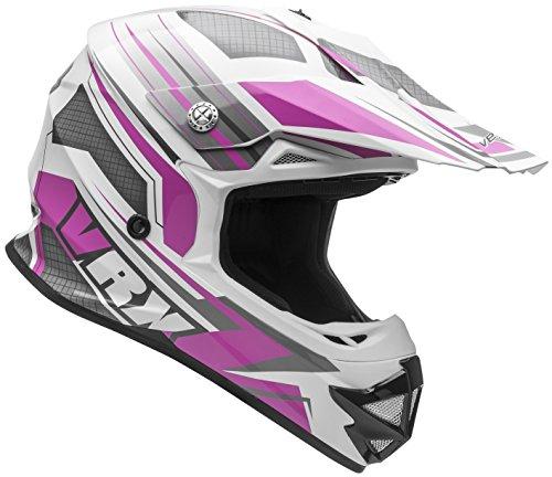 Vega Helmets VRX Advanced Dirt Bike Helmet – Off-Road Full Face Helmet for Motocross ATV MX Enduro Quad Sport 5 Year Warranty Pink Venom Graphic Large