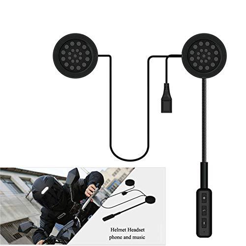 KLJKUJ Motorcycle Helmet Headset Bluetooth Wireless Helmet Handsfree Speakers Music Headphones