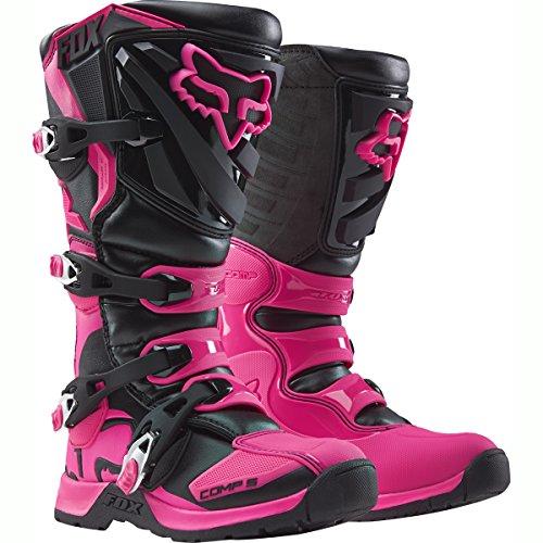 2018 Fox Racing Youth Comp 5 Boots-BlackPink-Y4