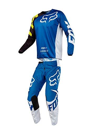 Fox Racing 2018 Youth 180 Race Combo Jersey Pants ATV UTV MX Offroad Dirtbike Motocross Riding Gear Blue