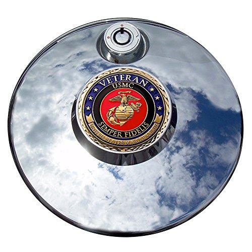 MotorDog69 Marine Veteran Harley Fuel Door Cover Coin Mount Set…