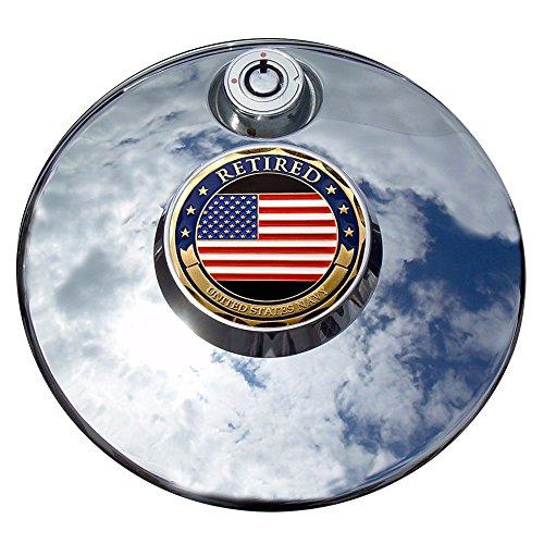 MotorDog69 Retired Navy Harley Fuel Door Cover Coin Mount Set…