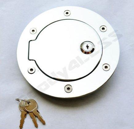 02-08 Dodge Ram Pickup 1500 2500 3500 Chrome Billet Gas Fuel Door Assembly Lock D2302