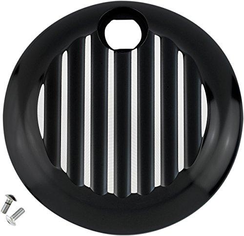 Joker Machine Finned Fuel Door - Black Machine w Silver Accents 045212