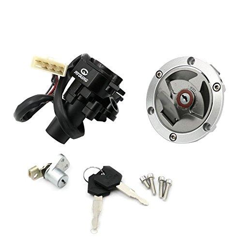 Unlimited Rider Ignition Switch Lock Fuel Gas Cap Cover Seat Lock Keys Set For Kawasaki Ninja 250R EX250J SE 2012  Ninja 250R EX250J 2008-2012  Ninja 300 EX300B ABS 2014-2015