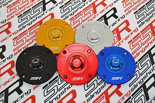 Suzuki Quick Release Keyless Billet Gas Fuel Tank Cap Lid GSX-R600 GSX-R750