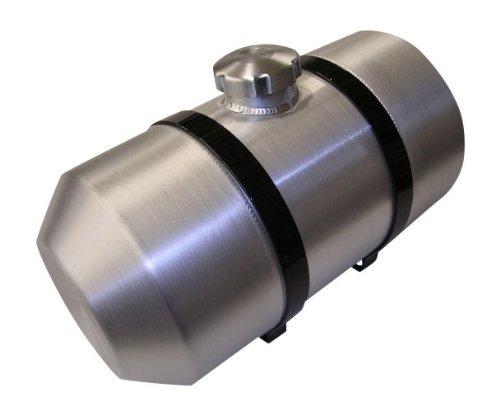 6x20 Center Fill Spun Aluminum Gas Tank - 2 Gallon - GO-Kart Mini Bike - Riding Mower - 14 NPT - Made in the USA