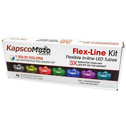 KapscoMoto Motorcycle 7 Color LED Light Kit Flex-Line Kit For Kawasaki Ninja ZX1400 ZX-14