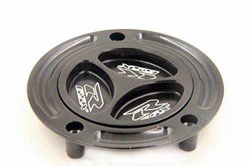 HTT Group Motorcycle Black Keyless Gas Cap Twist Off Fuel Tank Cap For 2008-2012 Suzuki Hayabusa GSX1300R 2003-2008 Suzuki SV650 SV650S 2003-2008 Suzuki SV1000 SV1000S