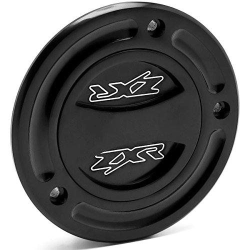 Krator Black Keyless Gas Cap Twist Off Fuel Tank Cap For Kawasaki Ninja ZXR Logo Etched