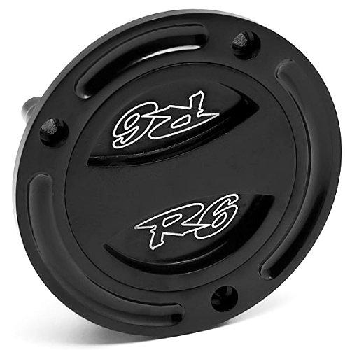 Krator Black Keyless Gas Cap Twist Off Fuel Tank Cap Logo For Yamaha YZF R6S 2006-2009