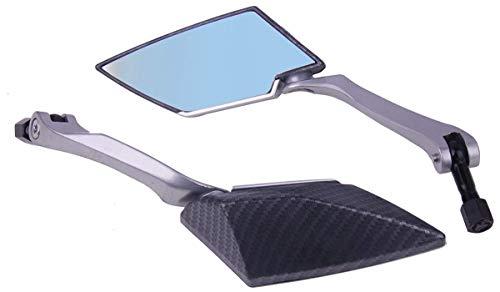 MotorToGo Black Carbon Fiber Rear View Mirrors for 1990 Kawasaki Zephyr 550 ZR550B