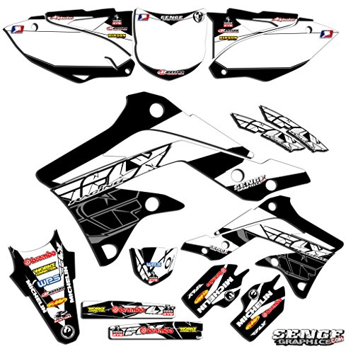 Senge Graphics 2001-2013 Kawasaki KX 85100 Fly Racing Black Graphics Kit