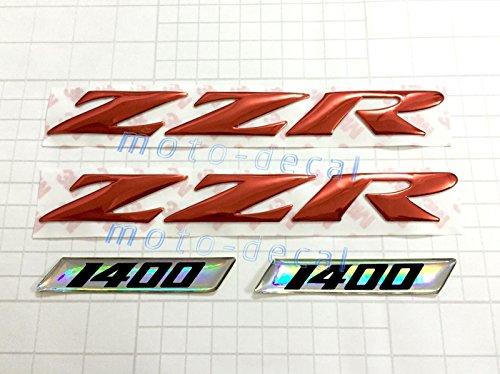 Decal Story 3D Emblem Sticker Decal Red Raise Up Polish Gloss For Kawasaki ZZR 1400