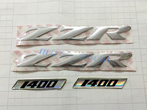 Decal Story 3D Emblem Sticker Decal Silver Raise Up Polish Gloss For Kawasaki ZZR 1400