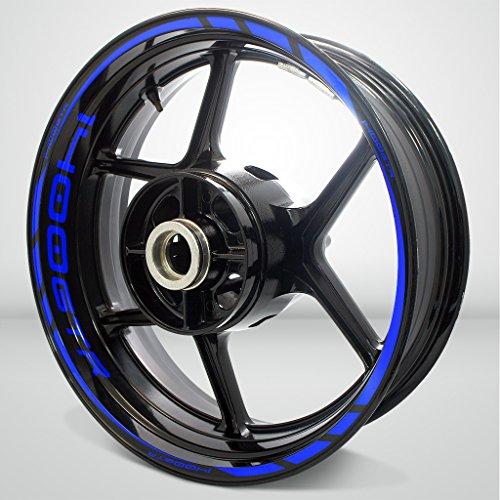 Kawasaki 1400 GTR Gloss Blue Motorcycle Rim Wheel Decal Accessory Sticker