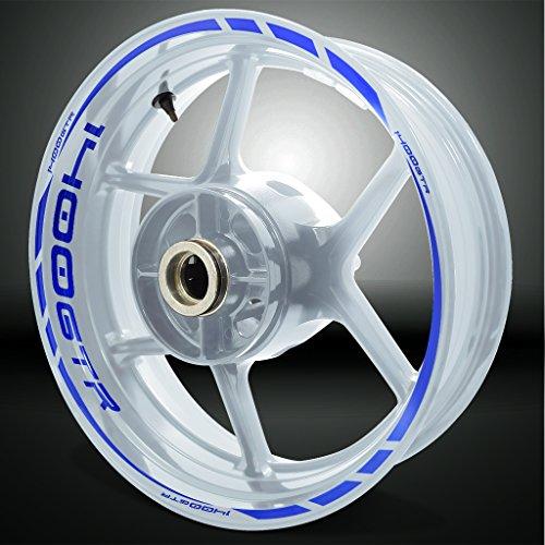 Kawasaki 1400 GTR Reflective Blue Motorcycle Rim Wheel Decal Accessory Sticker