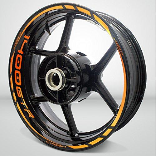 Kawasaki 1400 GTR Reflective Orange Motorcycle Rim Wheel Decal Accessory Sticker