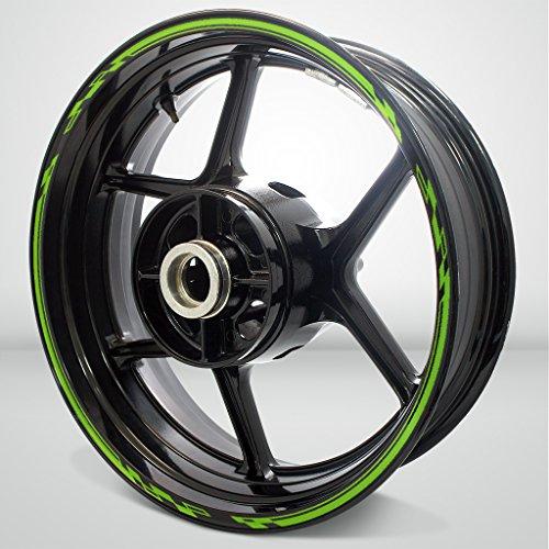 Matte Green Race Outer Rim Liner Stripe for Kawasaki 1400 GTR