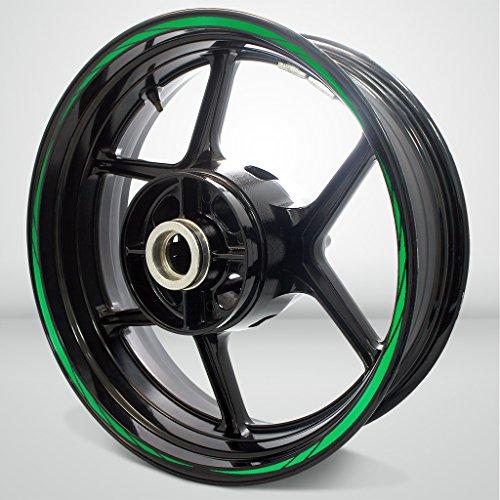 Reflective Green Spiral Outer Rim Liner Stripe for Kawasaki 1400 GTR