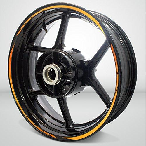 Reflective Orange Streak Outer Rim Liner Stripe for Kawasaki 1400 GTR